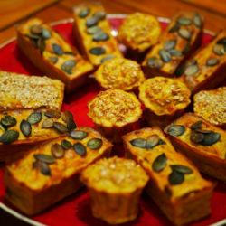 Minicakes au Potimarron, Oignons et Carotte