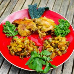 Cuisses de Canard - Poireaux et Oignons confits